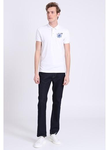 Lufian Polo Yaka Tişört Beyaz